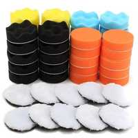 50pcs 80mm Buffing Polishing Sponge Pads Kit Car Polishing Tool Cleaning Tool