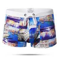 Summer Beach Printing Trunks Drawstring Beach Shorts
