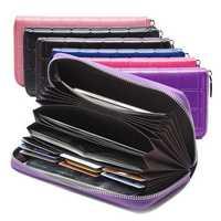 Women Genuine Leather Leisure Multi-function Long Wallet