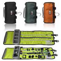 BUBM Outdoor Water-proof Large Capacity Roll Belt Storage Bag Earphone Cable GoPro Collection Case