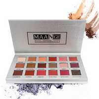 MAANGE 18 Colors Eye Shadow Palette Mermaid Makeup