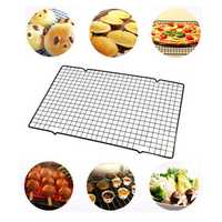 Stainless Steel Wire Grid Cool Rack BBQ Cake Safe Oven Kitchen Baking Tools Cooling Rack Baking Tooln Baking Mat