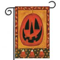 30x45cm Halloween Polyester Pumpkin Welcome Flag Garden Holiday Decoration