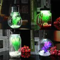 Modern Jar Cup Bulb Sphere Style Glass Plant Ceiling Pendant Light Hanging Lamp For Indoor Decor