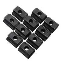 Machifit 10pcs M6 T Slot Nuts Set Black Oxide Finish T-slots Nut For T Track