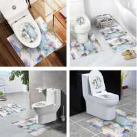 Bathroom Toilet Special 3 Pcs Set PVC Waterproof for 4 Styles Non-slip Wear Resistant Stickers
