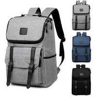 16 Inch Laptop Backpack Oxford Satchel Rucksack Student School Bag Camping Travel Women Men