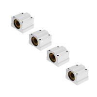 Machifit 4pcs SC16UU 16mm Solid Polymer Linear Motion Bearing Slide Bushing for CNC