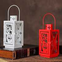 Retro Edition Iron Material Christmas Candlestick Christmas Styles Outdoor Christmas Decorations European style Iron Art Creative Candle Holder Iron Material Christmas Candlestick