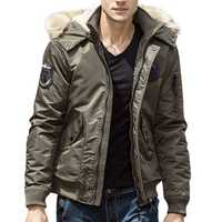 Fall Winter Thick Warm Hooded Casual Jacket for Men