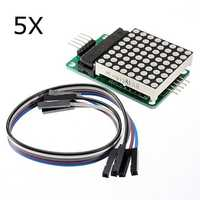 5Pcs MAX7219 Dot Matrix Module MCU LED Control Module Kit For Arduino