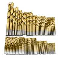 99pcs 1.5mm-10mm Twist Drill Bit Set Titanium coating HSS Twist Drill Bits