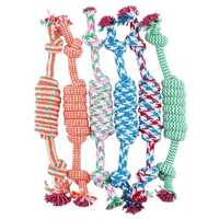 Yani DCT-8 Dogs Favorite Chew Knot Toy Braided Pet Bone Cotton Rope Durable Safety Cleaning Toys