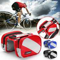 BIKIGHT Cycling Frame Bag Waterproof Touch Screen Phone Case Bags Outdoor Bicycle Storage Bag
