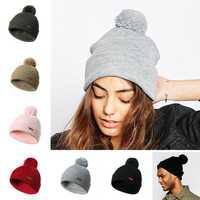 Men Women Winter Vintage Knit Earmuffs Beanie Cap