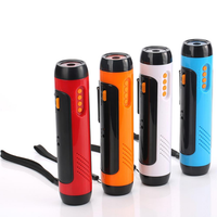 New Version Outdoor Multi-function Flashlight Hand-cranked Power Generation Power Bank FM Radio