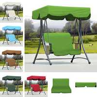 Outdoor Garden Swing Bench Hammock Canopy Waterproof Top Cover Sunshade + 2 Seater Chair Cover