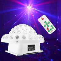 9 Color DMX Remote R&G Laser Gobos LED Crystal Big Magic Ball DJ Stage Light for Christmas Party