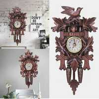 Bird Decorations Home Cafe Art Chic Swing Vintage Black Forest Cuckoo Wall Clock