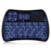 iPazzPort KP-810-61-RGB Russian Three Color Backlit Mini Keyboard Touchpad Airmouse