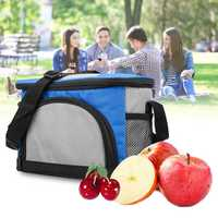 23x12x15cm Oxford Waterproof Portable Lunch Bag Container Outdooors Cold Preserve Camping Hiking