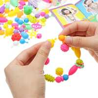 380PCS Pop DIY Beads Necklace Bracelet Crafts Jewelry Kit Toys Snap Together Fun Play Make Up Party Gift