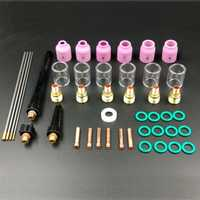 44PCS TIG Welding Torch Stubby Gas Lens #10 Cup Kit for WP9/20/25 WL20 Tungsten