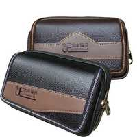 Jieerruidan PU Leather Wallet Phone Bag Double Zipper Waist Bag for Phone under 6 inches