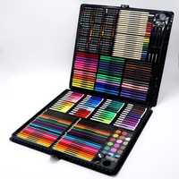 258Pcs Professional Painting Drawing Pen Art Set Sketching Color Pencil Pastel Eraser Painting Box