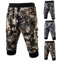 Summer Men's Fashion Sports Camouflage Running Knee Length Shorts Casual Jogger Pants