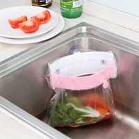 Plastic Sink Barbage Rubbish Bag Holder Kitchen Waste Junk Bag Holder Rack