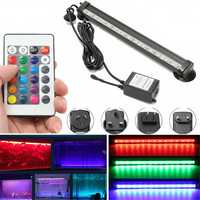 AC110-120V/220-240V 26CM RGB IP68 Submersible Air Bubble Aquarium Tank 15LED Rigid Strip Light Kit