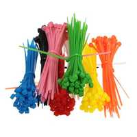 100pcs 3x100mm Self-Locking Plastic Cable Zip Loop Ties With One Color Nylon Cable Ties