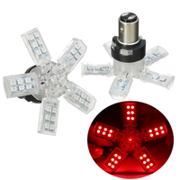 Pair Spider Type 1157 BAY15D LED Car Brake Stop Lights Tail Bulb Lamp Red DC 12V