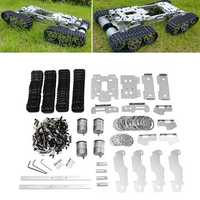 6-12V CNC Metal Robot RC Tank Tracked Chassis Suspension Obstacle Crossing Crawler With 4 Motors