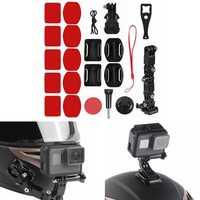 Adhesive Helmet Front Chin Mount Holder Kit For Sjcam/Antshares/Gopro Hero 6 5 4 Motorcycle