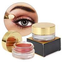 2 Colors Shimmer Eye Shadow Cream Makeup Cosmetics Single Bottle Waterproof No Fade