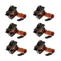 6PCS Emax ES08MDII Metal Digital Micro Servo For RC Airplane