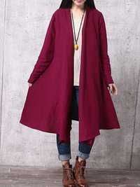 Women Loose Oversized Long Sleeve Asymmetric Outwear Coats