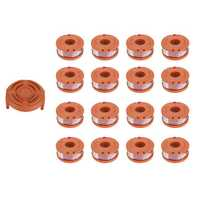 16Pcs Grass Trimmer Spool Line with 1Pcs Spool Cap Cover For Worx WG150s WG152