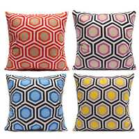 Colorful Geometric Duplex Printing Throw Pillow Cases Soft Dacron Home Sofa Cushion Cover