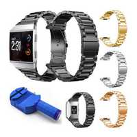 Stainless Steel Clasp Wrist Band Bracelet Replacement for Fitbit Ionic Watch