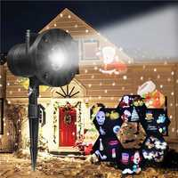 6 Patterns Laser projector LED Stage Light Moving Landscape Christmas Halloween Party Decor