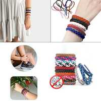 Leather Mosquito Repellent Bracelet Pest Control up to 300Hrs Outdoor Indoor Wrist Bands for Adult