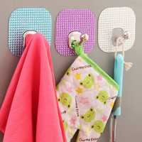 Wall Mounted Robe Hook Self Adhesive Towel Clothes Holder Bath Kitchen Hanger
