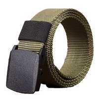 140cm KALOAD R01 Men Women Canvas Adjustable Quick Release Tactical Belt PE Buckle 3.8cm Width Waistband