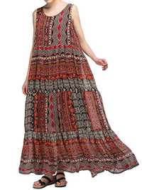 Vintage Loose Bohemian Sleeveless Maxi Dress