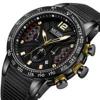 MEGIR 2106G Sport Chronograph Silicone Men Quartz Watch