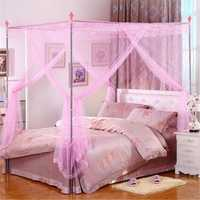 150X200cm Palace Mosquito Netting Four Corner Bed Curtain Canopy Insect Bug Net Queen Size