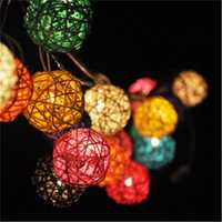 KCASA 1M 10 LED Sepaktakraw Ball String Lights LED Fairy Lights for Festival Christmas Halloween Party Wedding Decoration Battery Powered